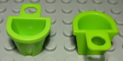 1382 AK Lego Figur Zubehör Umhänge Korb lime Hellgrün 2 Stück