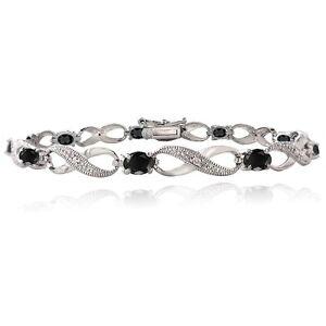 2-40ct-Sapphire-amp-Diamond-Accent-Infinity-Bracelet-in-Brass