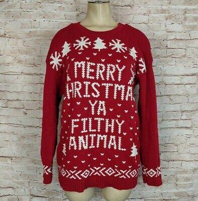 Home Alone Merry Christmas Ya Filthy Animal Funny Sweater Womens S M Fair Isle | eBay