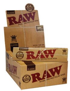 1-Box-50x-RAW-King-Size-slim-Classic-Premium-Papers-ungebleicht