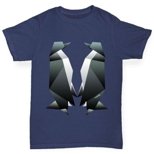 Twisted Envy Boy/'s Origami Penguins Premium Cotton T-Shirt
