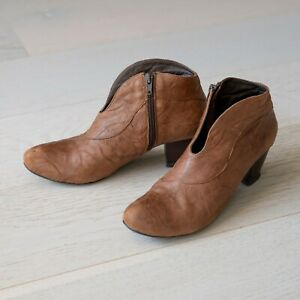 Kitty-Croquet-Leather-Ankle-Boots-Brown-Size-7-EU38-RRP-350