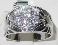 L7X310PB MANS DERBY RING CLUSTER 3CT SIMULATED DIAMOND MENS RING SIGNET PINKY