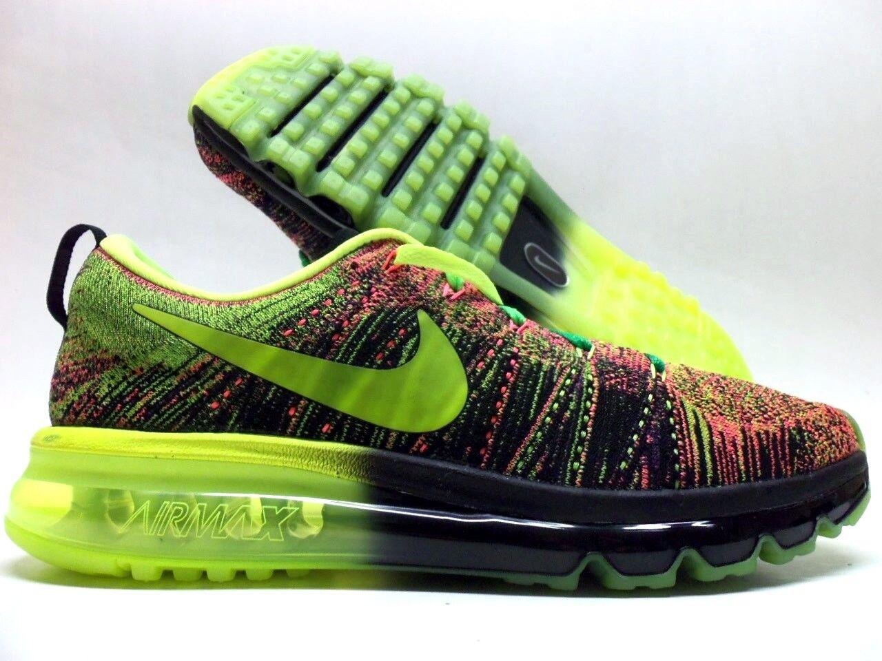 Nike air max flyknit id multi-color / nero-volt dimensioni uomini [874783-991]