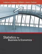 Statistics for Business Economics 13e Cochran Anderson Sweeney Ca… 9781305585317
