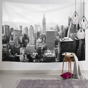 The Skyline of New York Tapestry Wall Hanging Vintage Sunset ...