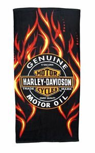 Harley Davidson Genuine Trademark Bath Pool Beach Towel 30x60 LICENSED!