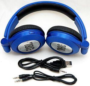 JBL-E40BT-BLUE-Synchros-Bluetooth-Folding-Stereo-Headphones-w-Mic-iPhone-6-5-4s