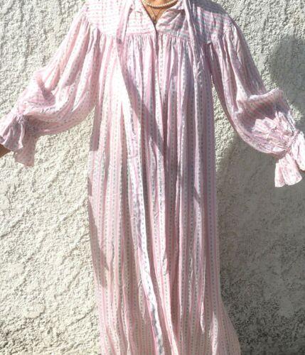 FRENCH 1930s RAVISHING LONG DRESSING GOWN ROBE~ LU