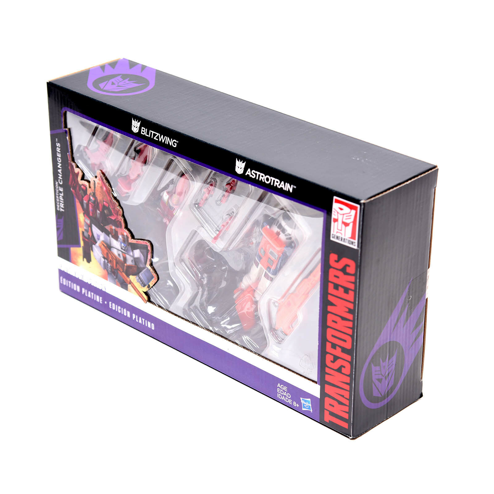 Transformers Hasbro G1 Reissue Platinum  Astrotrain Blitzwing Blitzwing Blitzwing Triple Changers ced22f