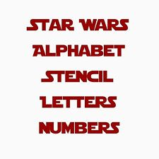 Star Wars Font Alphabet & Letters Stencil Template Paint Craft Airbrush Mylar