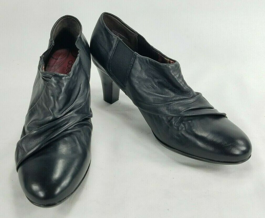 Abeo BIO System Womens Leather Slip On Heels Pumps Shoes Sz 9.5 N