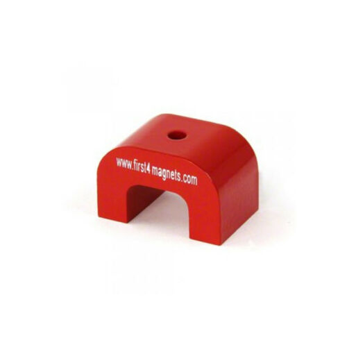 Large Red Alnico Horseshoe Magnet 30 x 45 x 30mm 11kg Pull
