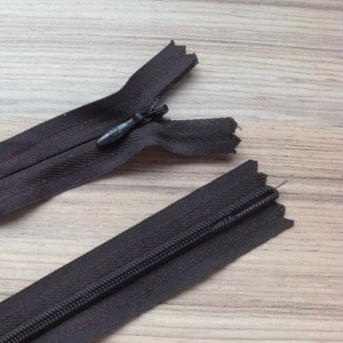 """INVISIBLE ZIP BEST QUALITY NYLON CLOSED END CONCEALED// CONCEAL ZIP 8/""""-22/"""""""