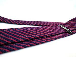 STEFANO-RICCI-Tie-Stunning-Navy-Blue-Fuchsia-Stripe-Luxury-Silk-Necktie