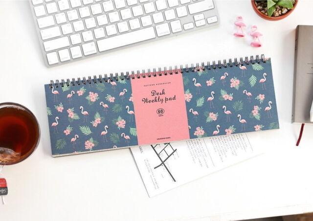 Weekly Note Pad Planner Organizer Pattern Scheduler Book Desk vee