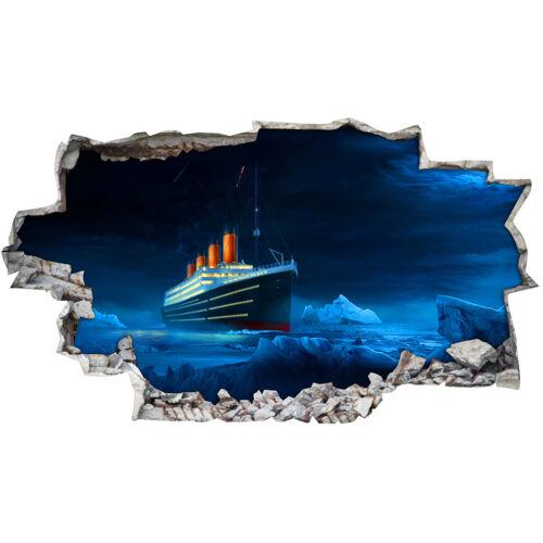 Autocollants Muraux Titanic ICEBERG OCEAN Cool Chambre Filles Garçons Living Room AA545