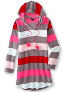 Image is loading Joe-Boxer-Juniors-Hooded-Fleece-Lounger-Rainbow-Stripe- e8a9ae10b
