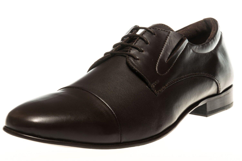 MANZ Business Schuhe in Übergrößen Braun 120051-22-187 große Herrenschuhe