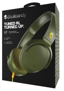 Skullcandy Riff Olive Yellow Wired On Ear Headphones with Microphone
