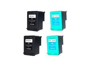 4PK-NON-OEM-INK-FOR-HP-92-amp-93-PSC-1507-1510-PhotoSmart-7850-C3100-C3110-C3125