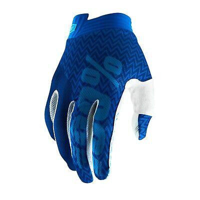 2019 100% Itrack Motocross Mx Bike Gloves - Blue / Navy