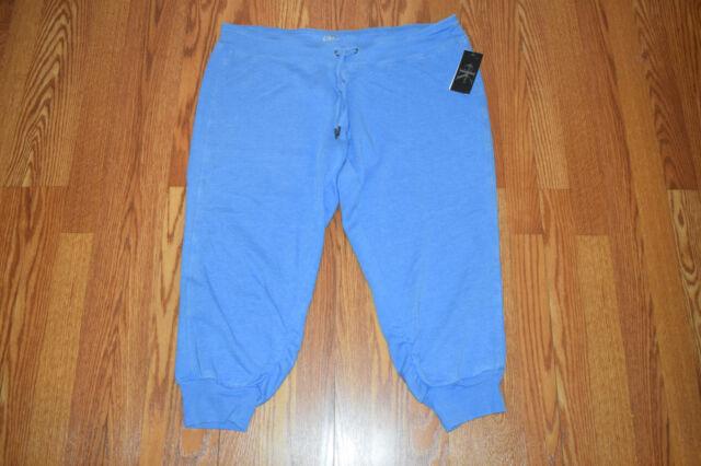 e72203a8bc4 Women s Calvin Klein Blue Jogger Pants Capri Sweatpants Size 2xl XXL ...