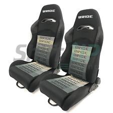 2 SEATS BRIDE DIGO Black GRADATION Pair Reclinable Racing Seats with Sliders
