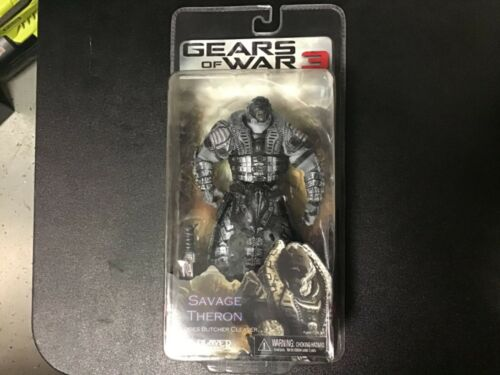 Gears of War 3 Action Figure Savage Theron  w Butcher Cleaver MOC 2012 NECA