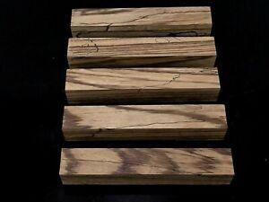 5-Zebrawood-Exotic-Wood-Turning-Pen-Blanks-7-8-034-Reel-Set-Bulk