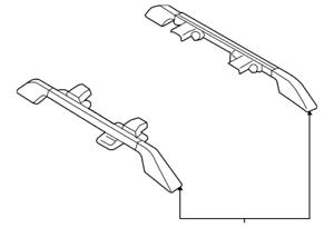 genuine honda roof rails  tz  ebay