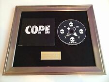 PERSONALLY SIGNED/AUTOGRAPHED MANCHESTER ORCHESTRA -COPE FRAMED CD PRESENTATION.