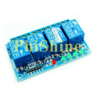 12V 4 Channel Relay Module High Level Trigger PLC Control for Arduinno 51 AVR AR
