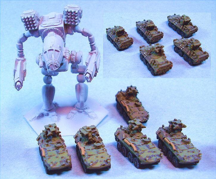 Ghq Miniatures adecuado para Battletech Lav A (5)