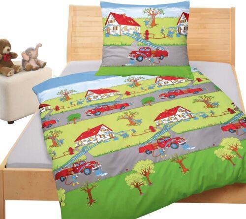 Bierbaum Bettwäsche Kinderbettwäsche Feuerwehr Renforce 2338  80 x 80  135 x 200