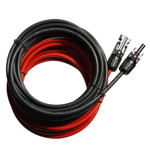2 x  5m Solar Cable Wire MC4 Connector Panel 4mm² Extension Cable solar panel