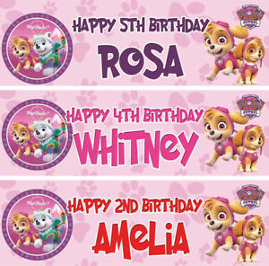 Image Is Loading 2 X Personalised Birthday Banner Party PAW Patrol
