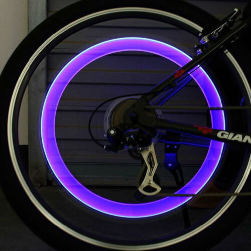 Motion Activated LED Glow Bike Car Motorcycle Tire Valve Caps Wheel colorful New