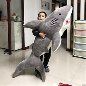 78-039-039-Giant-Shark-Gray-Plush-Doll-Big-Stuffed-Animal-Pillow-Soft-Toys-amp-Hobbies