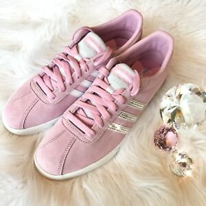 Details about Bling Adidas Courtset Women s Shoes w  Swarovski Crystals -  Frost Pink Bedazzled 219a58649a
