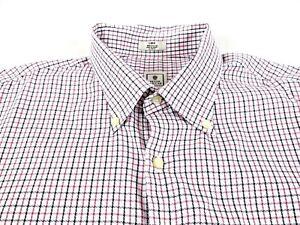 37b4f0f79824 Peter Millar Shirt Mens Size L Button Down Long Sleeve Checks Plaid ...
