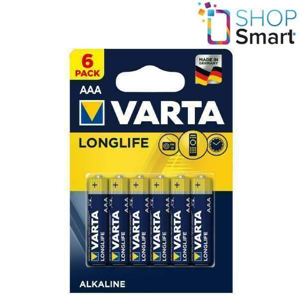 6 aaa varta longlife Alkaline lr03 batteries 1.5v micro 4103 mn 2400 new