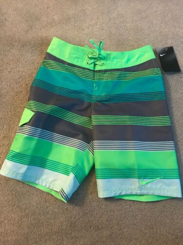 NWT Boys Nike Swim Suit, Size Medium, Green