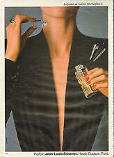 Publicité advertising 1981 Parfum  Jean Louis Scherrer Haute Couture