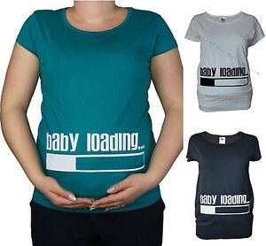 New-Maternity-Pregnancy-10-20-White-Black-Cotton-baby-loadin-Top-Tunic-T-Shirt