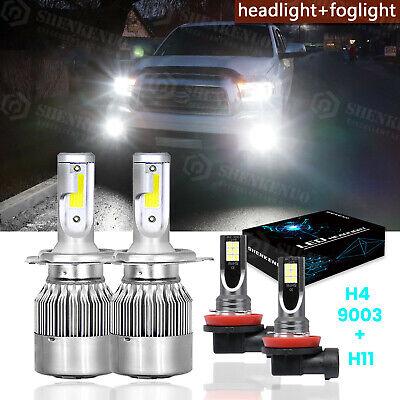 9003 H16 8000K Led Headlight Hi//Lo Beam Fog Light Bulb For Toyota Tundra 2014-19
