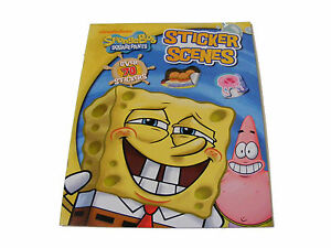 CHILDRENS-KIDS-SPONGE-BOB-SQUARE-PANTS-STICKER-BOOK-WITH-OVER-70-STICKERS-NEW