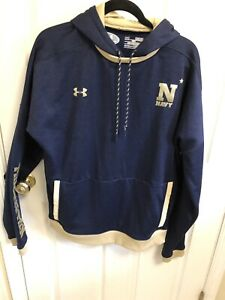 561867937d Details about Under Armour USN US Navy Cold Gear Naval Academ Pullover  Hoodie Jacket Medium M