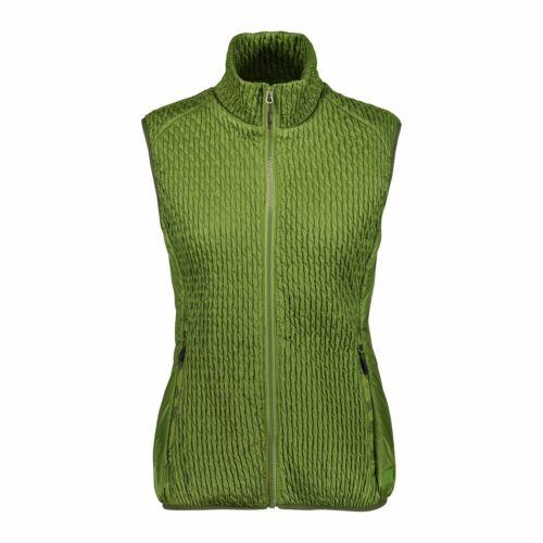 CMP fonction Gilet Gilet Woman Vest Vert Imperméable saumon unicolore