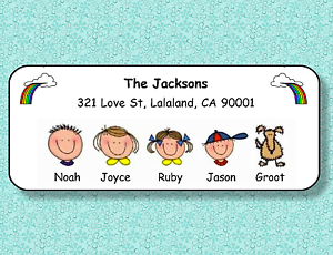 FAMILY-FACES-PERSONALIZED-ADDRESS-LABELS